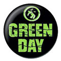 Green Day pinback: Warning logo (1'' Button)