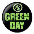 Green Day pinback: Warning logo (1'' Button)