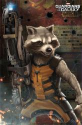 Guardians of the Galaxy movie poster: Rocket (22x34) 2014 film