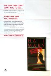 Hail Mary movie poster [1985 Jean-Luc Godard film] 24x36 video version