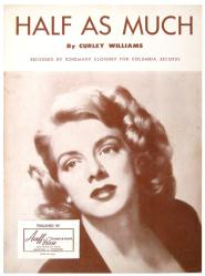 Half As Much vintage sheet music [Rosemary Clooney] 1951