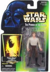 Star Wars [POTF] Han Solo in Carbonite Block figure (Kenner/1997)