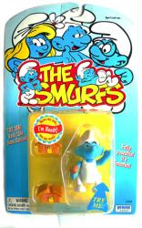 The Smurfs: Handy Smurf figure with Real Life Arm Action (Irwin/1996)