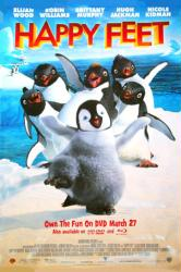 Happy Feet movie poster (2006) 27x40 DVD version