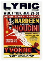 Hardeen poster: Brother of Houdini (18 X 24) Lyric Theatre