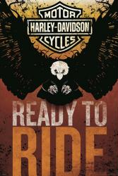 Harley-Davidson Motorcycles poster: Ready to Ride (24x36)