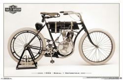Harley-Davidson Motorcycles poster: Serial #1 (34x22)
