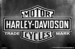 Harley-Davidson Motorcycles poster: Trademark Logo (34x22)