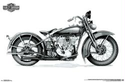 Harley-Davidson Motorcycles poster: Twin Cam (34x22)