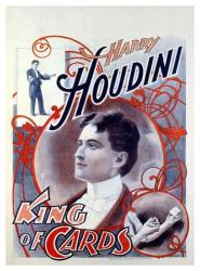 Houdini poster: King of Cards (18 X 24 magician poster)