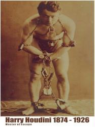 Harry Houdini poster: 1874-1926 Master of Escape (18x24)