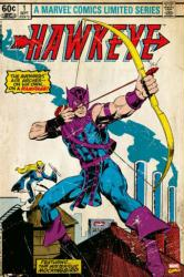 Hawkeye poster: Comic Book cover Issue 1 (24 X 36) Marvel