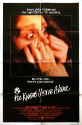 He Knows You're Alone movie poster [1980 horror film] 27x41 original