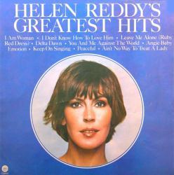 Helen Reddy poster: Helen Reddy's Greatest Hits clothesline album flat