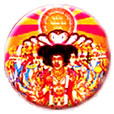 Jimi Hendrix pinback: Axis Bold As Love (1'' Button)