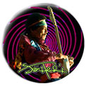 Jimi Hendrix pinback: Swirl (1.25'' Button)