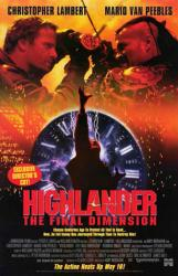 Highlander: The Final Dimension movie poster [Christopher Lambert] NM