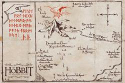 The Hobbit poster: Lonely Mountain Map (36 X 24) Tolkien