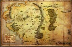 The Hobbit poster: Map of Middle Earth (36'' X 24'') Tolkien