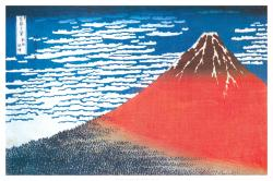Katsushika Hokusai poster: Mount Fuji [South Wind, Clear Sky] 36 X 24