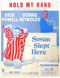 Hold My Hand vintage sheet music [Dick Powell, Debbie Reynolds] 1954
