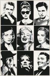 Hollywood Legends poster: Cary Grant, Bogart, Marilyn Monroe (24x36)