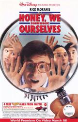 Honey, We Shrunk Ourselves movie poster [Rick Moranis & Stuart Pankin]