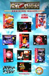 Hot New Games poster: Sega/Genesis & Super Nintendo (Winter 1994)