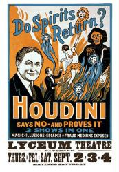 Houdini poster: Do Spirits Return? (18'' X 24'' magic poster)