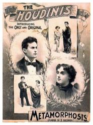 Houdini poster: The Harry Houdinis Metamorphosis (18 X 24) magic