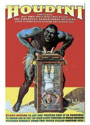Houdini poster: Chinese Water Torture Cell (18 X 24 magician poster)