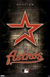 Houston Astros logo poster (MLB) 22 1/2'' X 34''