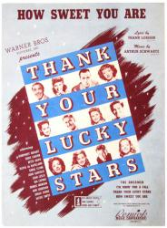 How Sweet You Are vintage sheet music [Humphrey Bogart, Bette Davis]