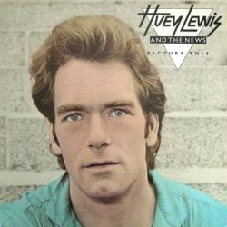Huey Lewis and the News poster: Picture This vintage LP/Album flat