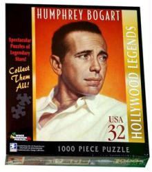 Humphrey Bogart 1000-pc jigsaw puzzle: Stamp design (White Mountain)
