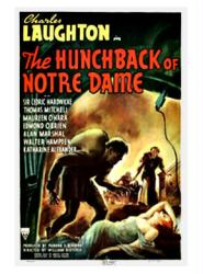 The Hunchback of Notre Dame movie poster (1939) Laughton/O'Hara 18x24