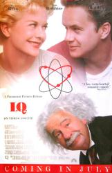 I.Q. movie poster [Tim Robbins, Meg Ryan & Walter Matthau] video