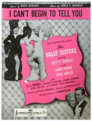 I Can't Begin To Tell You sheet music [Betty Grable, John Payne] 1945