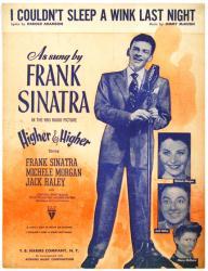 I Couldn't Sleep A Wink Last Night vintage sheet music [Frank Sinatra]