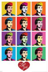 I Love Lucy poster: Pop Art [Lucille Ball] 24 X 36