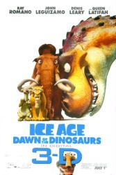 Ice Age: Dawn of the Dinosaurs in Digital 3-D movie poster