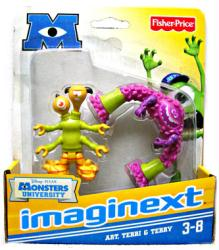 Imaginext Monsters University: Art and Terri & Terry figures