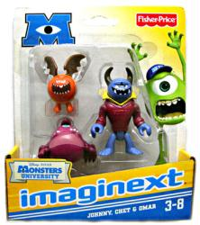 Imaginext Monsters University: Johnny, Chet & Omar figures