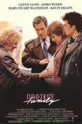 Immediate Family movie poster [Glenn Close, James Woods] 27x40