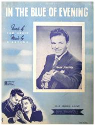 In the Blue of Evening vintage sheet music [Frank Sinatra] 1942
