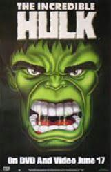 The Incredible Hulk video poster (27'' X 40'') 1996 TV series
