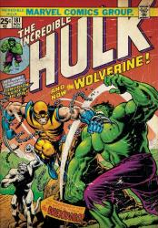 The Incredible Hulk poster: And Now the Wolverine (24 X 36) Issue 181
