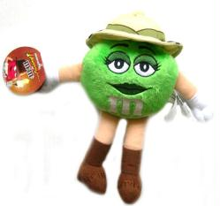 Indiana Jones M&M'S Green Character Plush (Mars Retail Group/2008) New