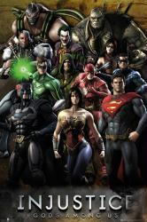 Injustice: Gods Among Us video game poster (24'' X 36'') DC Comics