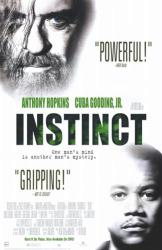 Instinct movie poster [Anthony Hopkins, Cuba Gooding Jr.] 26x40 NM